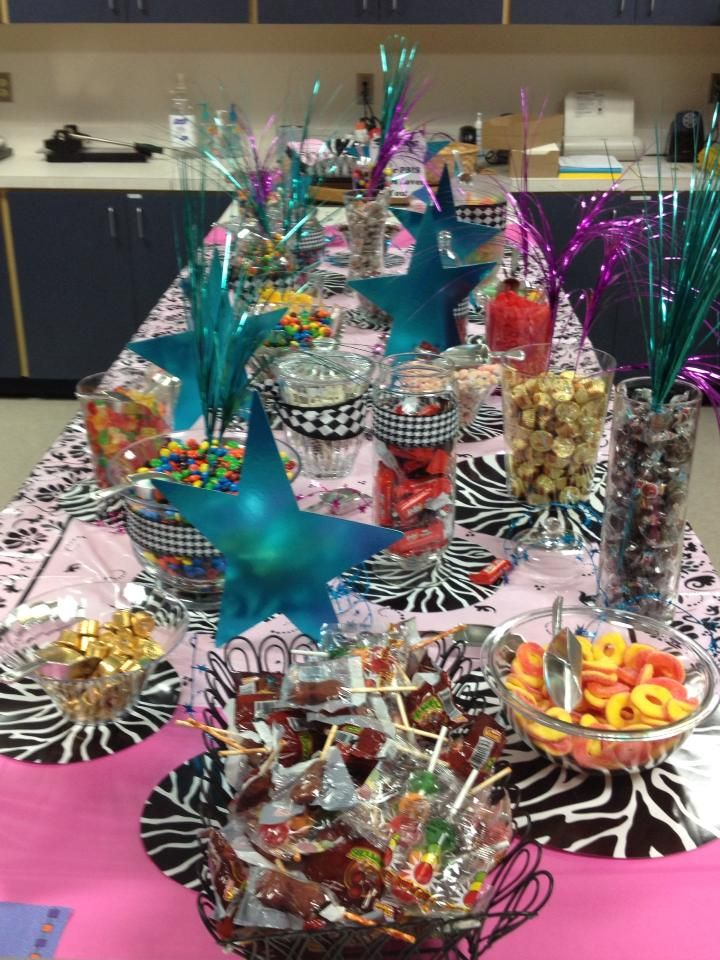 A candy bar in the teachers lounge is a great way to show your colleagues how much they are loved!