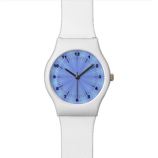 Blue Watch by www.zazzle.com/htgraphicdesigner* #zazzle #gift #giftidea #wrist #watch #wristwatch #woman #blue #white #abstract #design