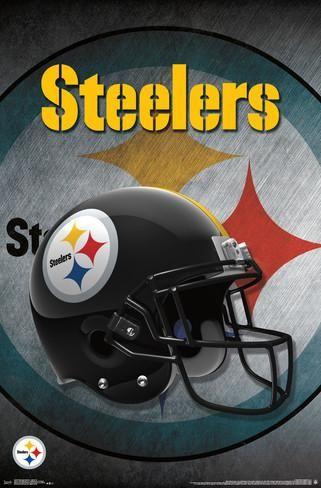 "NFL Pittsburgh Steelers Logo Helmet wall poster art print affiliate 24"" x 34"""