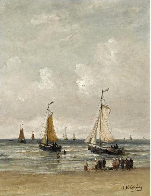Hendrik Willem Mesdag - Vertrek van de vissersvloot