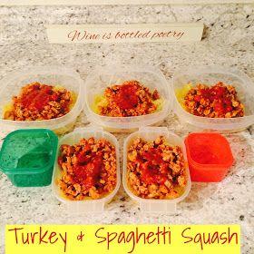 The Healthy RN: Ground Turkey & Spaghetti Squash: 21 Day Fix Approved