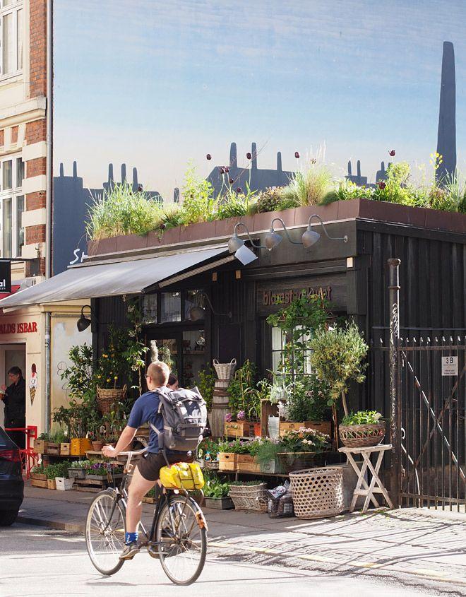 Lovely flowerstore on a very idyllic street in Vesterbro/Frederiksberg. Værnedamsvej 3A. http://www.blomsterskuret.dk
