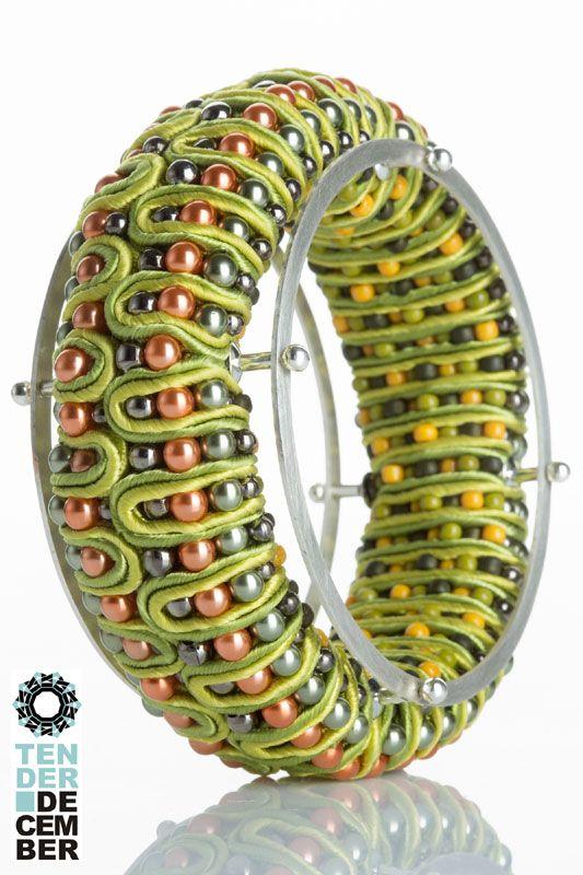 3D soutache and silver bracelet, Alina Tyro Niezgoda, Tender December
