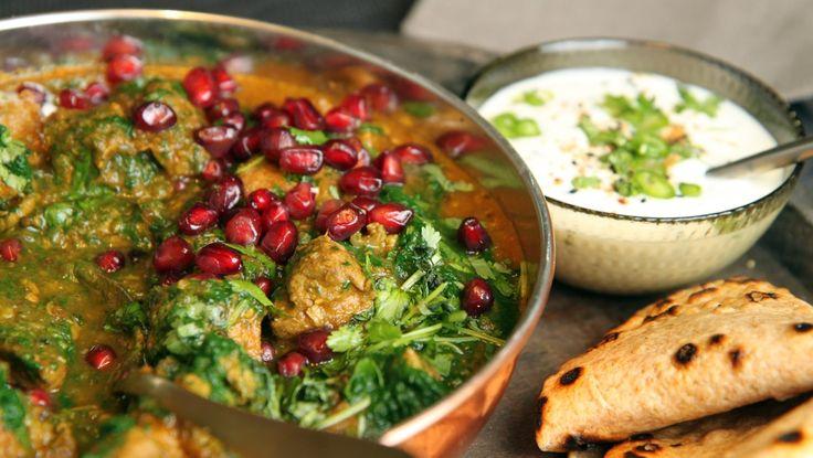 Indisk lammegryte med spinat - saag gosht