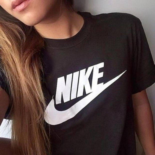 "Women Fashion ""NIKE"" Print T-Shirt Top Tee"