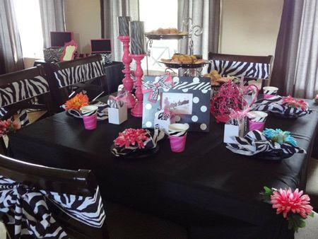 zebra birthday idea | ... Barbie Parties, Party Decorations, Pink, Zebra Print, Diva Party ideas