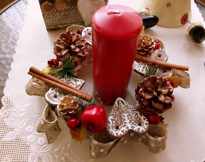 Boże Narodzenie. Stroik na stół | Szysia