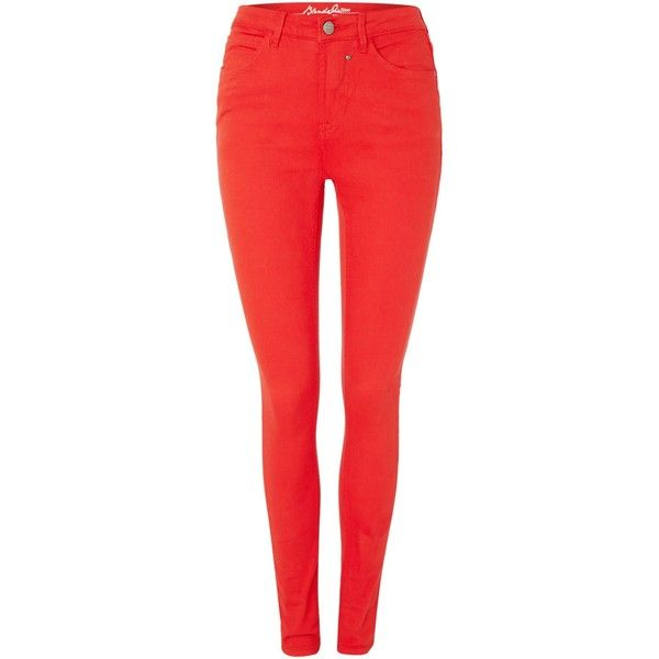 Blend She Glow Demon slim jeans ($61) ❤ liked on Polyvore featuring jeans, pants, bottoms, pantalones, red, women, slim stretch jeans, stretchy skinny jeans, stretchy jeans and straight jeans