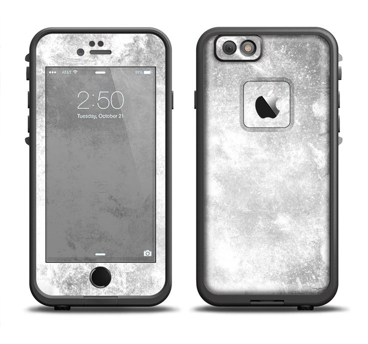 The White Cracked Rock Surface Apple IPhone 6 6s Plus LifeProof Fre Case Skin Set