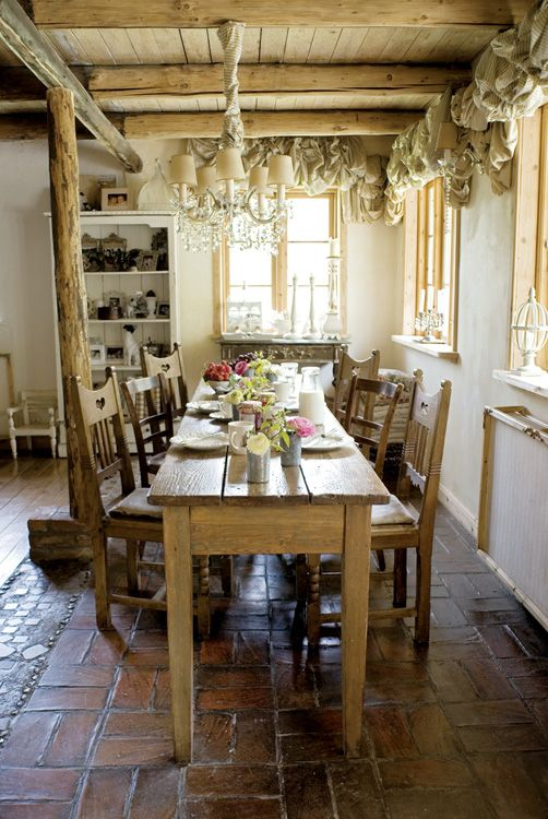 15 best narrow dining tables images on pinterest dining for Narrow dining room design ideas