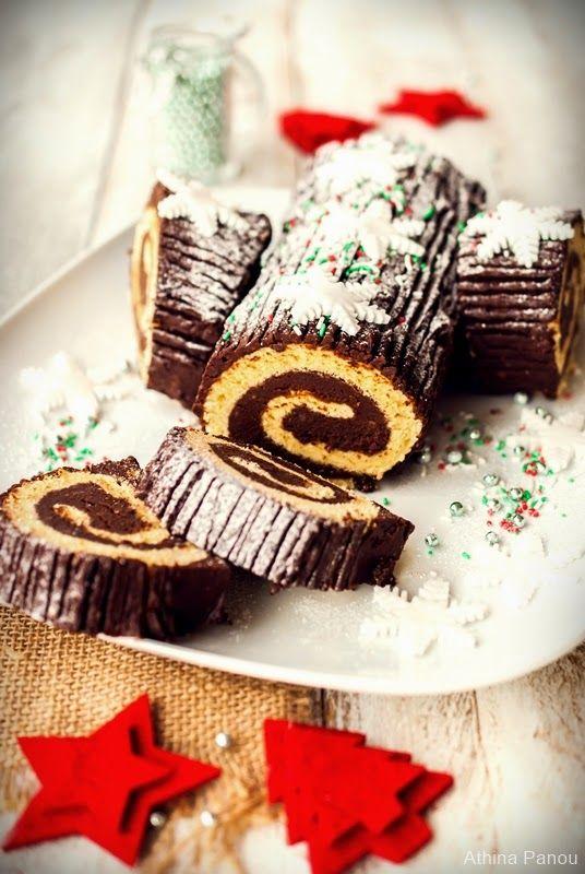 Sugar Buzz: Ένας γιορτινός κορμός με παντεσπάνι