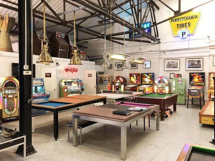 Jukeboxes, Pinball Machines, Shuffleboards, Foosball