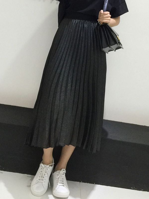 Updated Pure Color Loose Mid-length Skirt(Size:S-2XL)