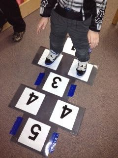 Syllable Hopscotch Could also work for segmenting words Or counting words in a sentence - maybe students could roll a dice to see what task they have to do - help teach students the difference between tasks