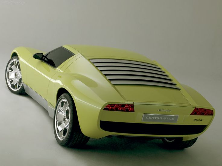 Presents A Front Left Photograph Of An Impressive Yellow 2006 Lamborghini  Miura Concept Car.
