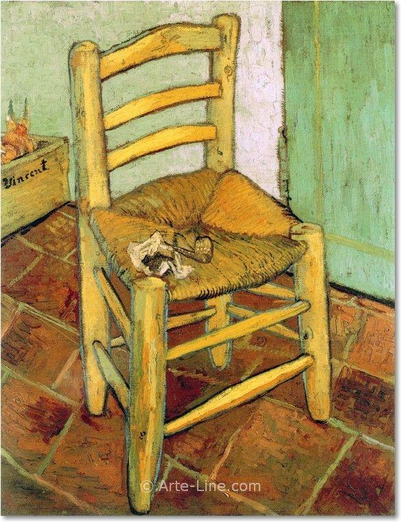 Vincent van Gogh La sedia di Vincent Riproduzione a olio, qualità museale