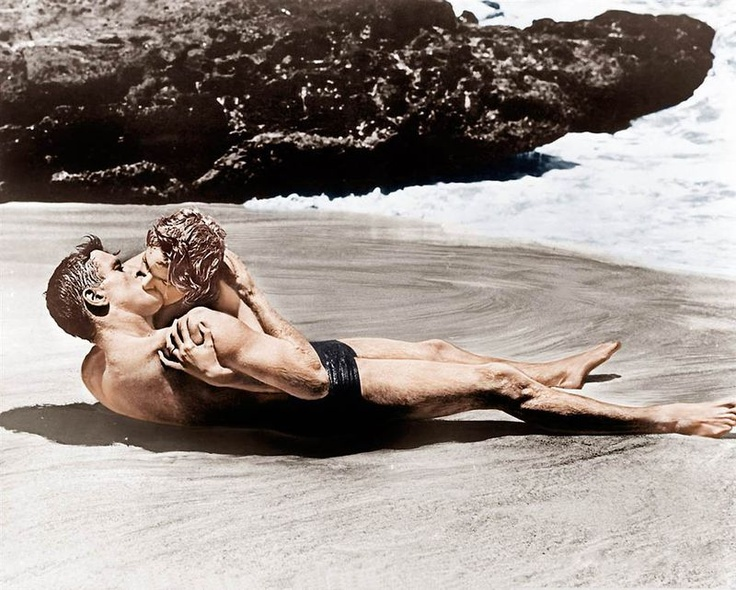 "We recommend recreating ""From Here To Eternity"" this weekend.: Eterni Kiss, Beaches Image, 1953 Film, Beaches Scene, Movie Kiss, Eternity Kiss, 1953 Movie, Famous Kiss, The Beaches"