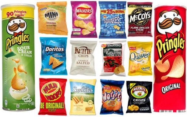 Crisps - the best, and worst - pringles, doritos, hula hoops, walkers, snacks,