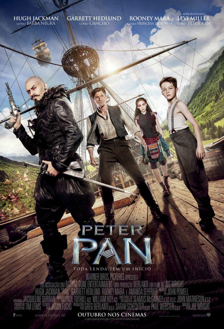 Um filme de Joe Wright com Levi Miller (II), Hugh Jackman : Peter (Levi Miller) é um garoto de 12 anos que vive em um orfanato em Londres, no período da Segunda Guerra Mundial. Um dia, ele e várias crianças são sequestradas por piratas em um navio voador, que logo é perseguido por caças do exército britâni...