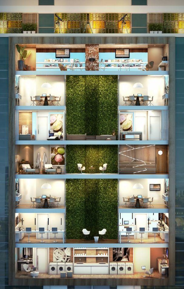Perspectiva Ilustrada Lazer na totte do 11º ao 18º pavimento.