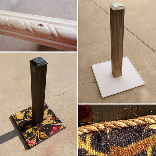 DIY Cat Scratching Post  http://www.dreamalittlebigger.com/post/diy-cat-scratching-post.html