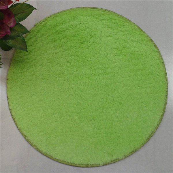 2016 Fashion 40*40CM Soft Home Textile Solid Small Round Anti Slip Chair Pad Cushions Soft Rug Door Mats Carpet Floor EF153
