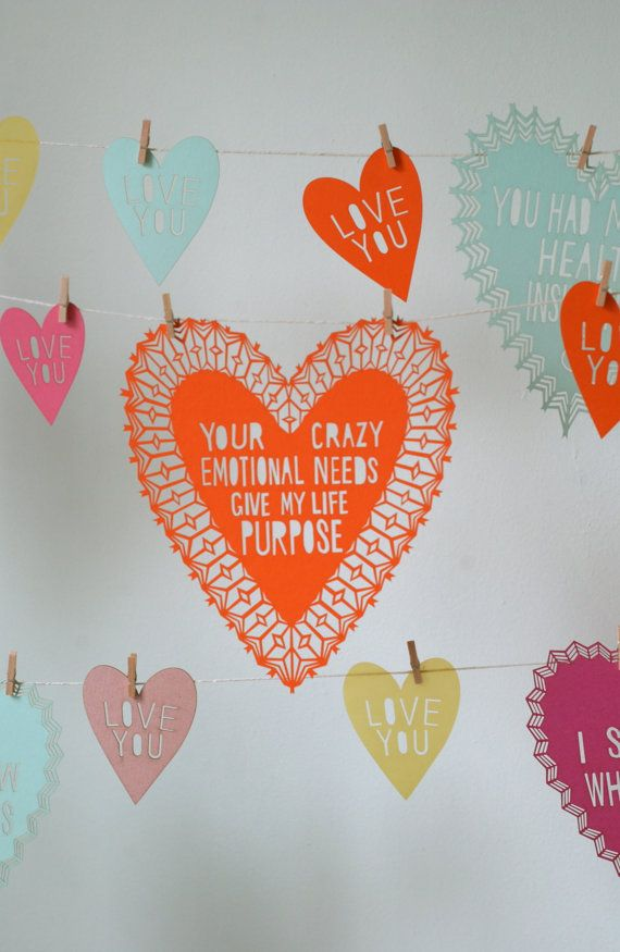 i don't know why... but this made me smile.: Wedding Parties, Decor Ideas, Crazy Emotional, Paper Heart, Valentines Day, Diy Gifts, Valentinesday, Cut Paper, Cut Outs