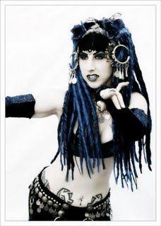 Sashi, another breathtaking gothic belly dancer I've seen performing at Hanover Tribal Festival in Germany where I had a Magic Tribal Hair both for several years. Here is the link to the festival site http://www.world-of-orient.de/portal/tribalfestival-2017/tribalfestival-2017-english/.