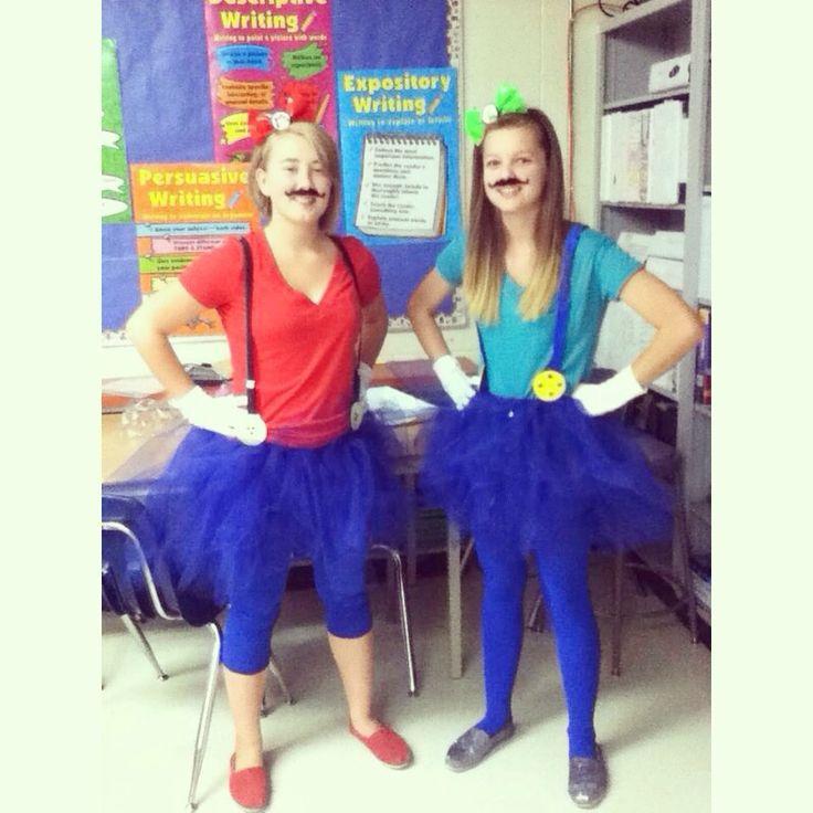 Diy Mario And Luigi Cute Girls Costume Diy Pinterest