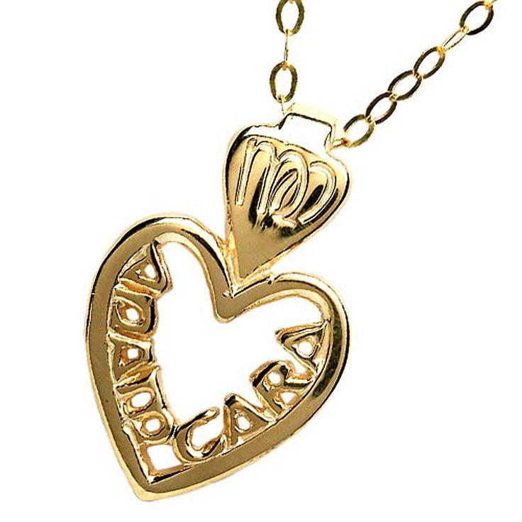 Gold Mo Anam Cara Pierced Pendant Irish jewelry