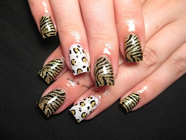leopard & zebraMakeup Nails, Cheetahs Nails, Feline Nails, Cheetah Nails, Hair Nails Makeup, Zebra Nails, Nailss, Zebras Nails, Nails Black