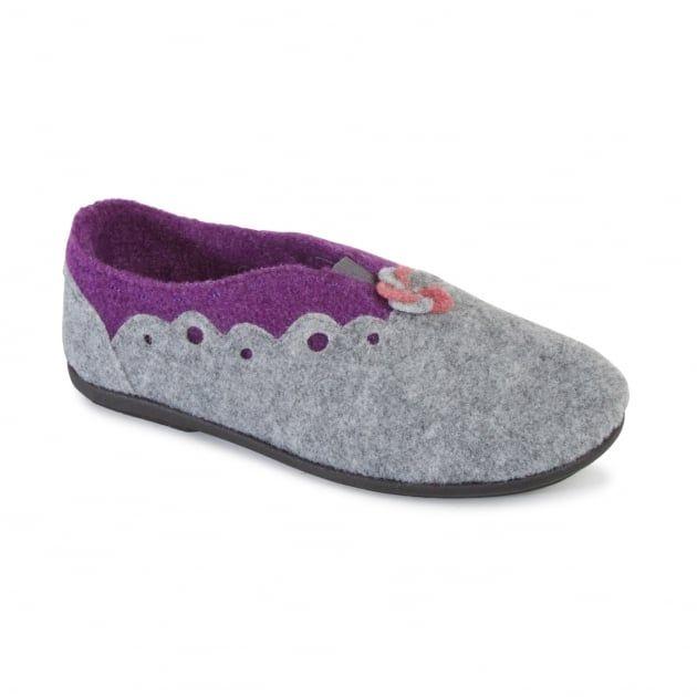 Hannah 4009 Grey Slippers