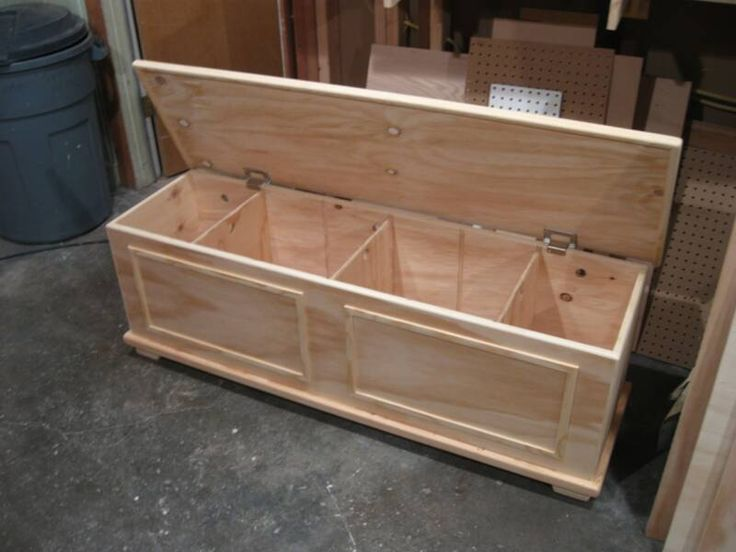 Toy box / storage chest. Can be divided into 4 separate compartments. $385.15 | Sam's WorkShop ...