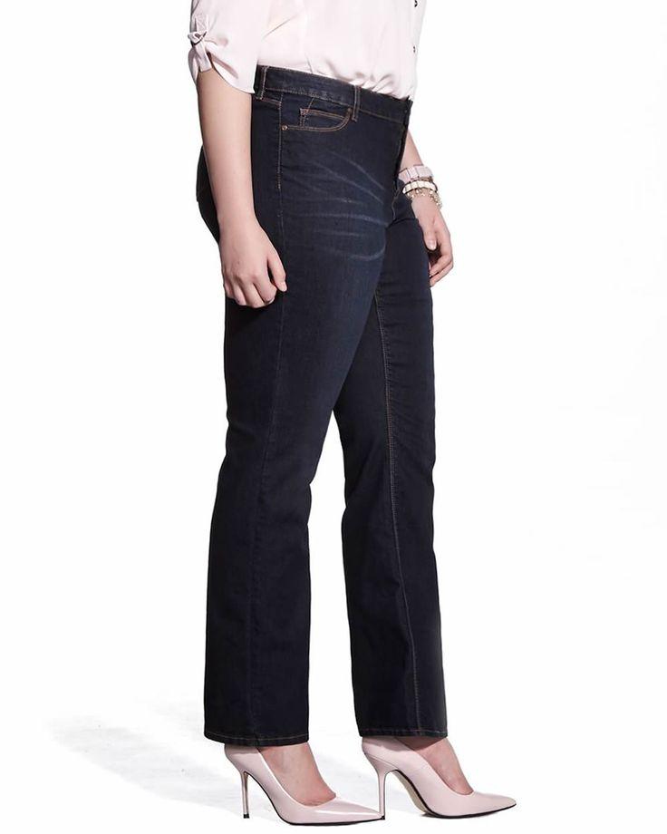 Plus Size Authentic Slight Boot Cut Jeans