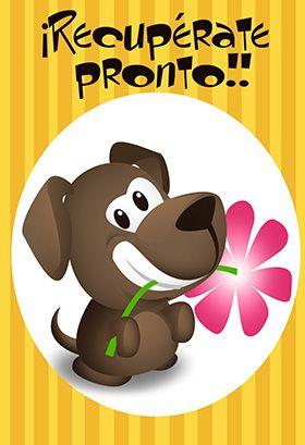 Tarjeta gratis destacada para imprimir - Cachorrito De Mejoría | Greetings Island