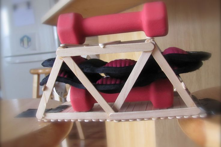 popsicle stick bridge that holds 6+ lbs of weight | Craft ...
