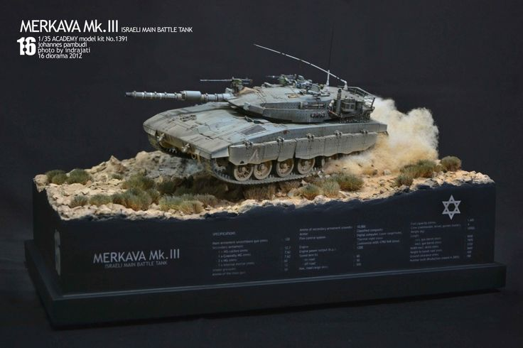 Merkava Mk. III 1/35 Scale Model Diorama