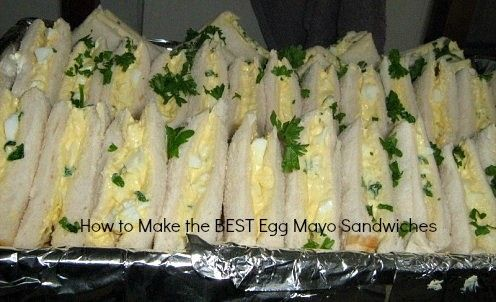 Home made boiled egg mayo sandwiches
