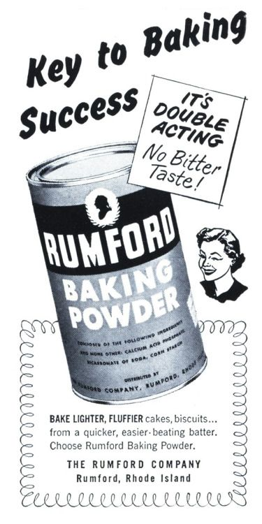 Rumford Baking Powder - 19511200 Womans Day