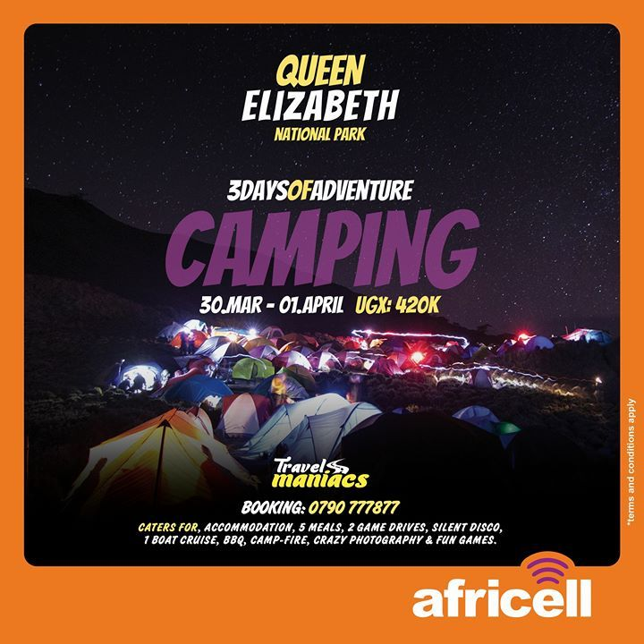 Let's do this again! Easter holiday plans sorted. And of course it's fools day in the wild! And I can only travel with Africell Uganda 4G internet in #Wakanda. Don't miss crazy camping silent disco and night photography! Call us: 0790777877 #3DaysOfAdventure #TravelWithAfricell #TravelWith4G