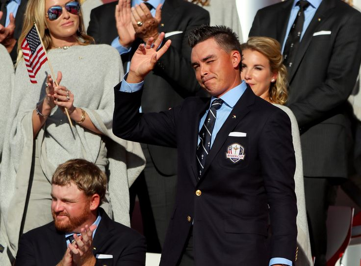 Rickie Fowler Photos Photos - Rickie Fowler of the United States reacts during the 2016 Ryder Cup Opening Ceremony at Hazeltine National Golf Club on September 29, 2016 in Chaska, Minnesota. - 2016 Ryder Cup - Opening Ceremony