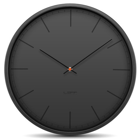 Tone35 Black clock by Leff Amsterdam at www.yasidesign.com, Click  to Experience.
