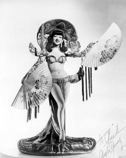 Belated congratulations to Barbara Yung on her recent induction into the Burlesque Hall of Fame. During the late 1940s, Barbara was one of the reigning queens of the Bay Area's Chinese nightclub scene. Last month in Las Vegas she graced the stage once again to accept the 2011 Legend of Burlesque Award.