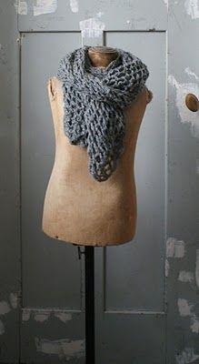 sjaal Eenvoudig te zelf te haken met kleine hoeveelheid garen, voor een groots effect.