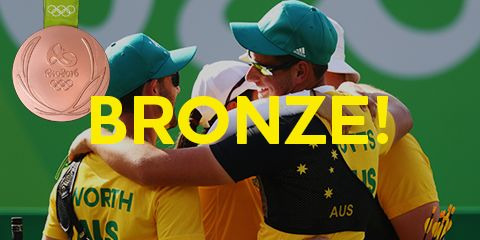 ARCHERY: The Australian men's archery team have made Olympic history in Rio after winning bronze at the Sambodromo.