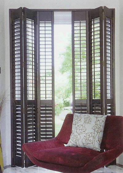10 best bi fold door shutters images on pinterest shades indoor shutters and bi fold doors for Bifold interior window shutters