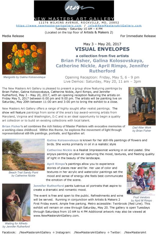 April M. Rimpo: Visual Envelopes: an exhibition by a collection of five artists