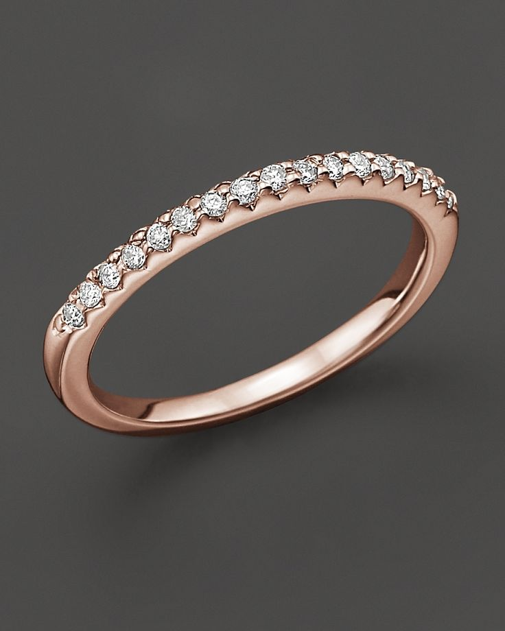 DREAM WEDDING BAND. Rose gold wedding band? Yes, please... (From Bloomingdales via Lover.ly)