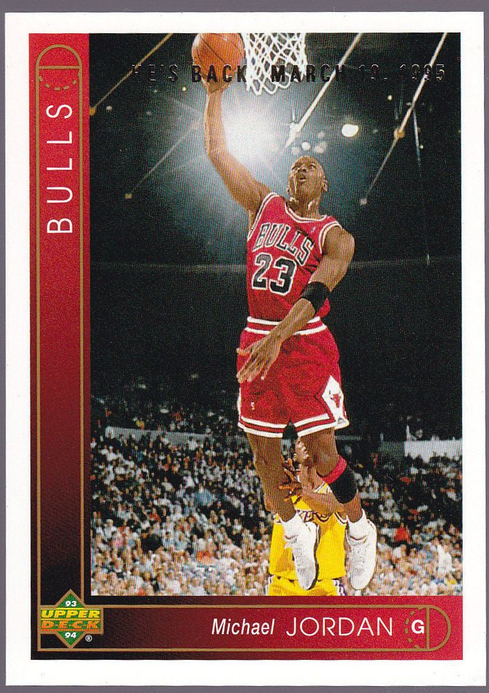 CHICAGO BULLS 1993-94 UPPER DECK MICHAEL JORDAN HE'S BACK FREE SHIPPING