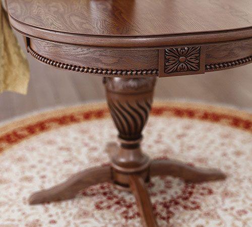 Овальный деревянный стол «Цезарь 2» на одной ножке. #стол #мебель #кухня #дерево #массив
